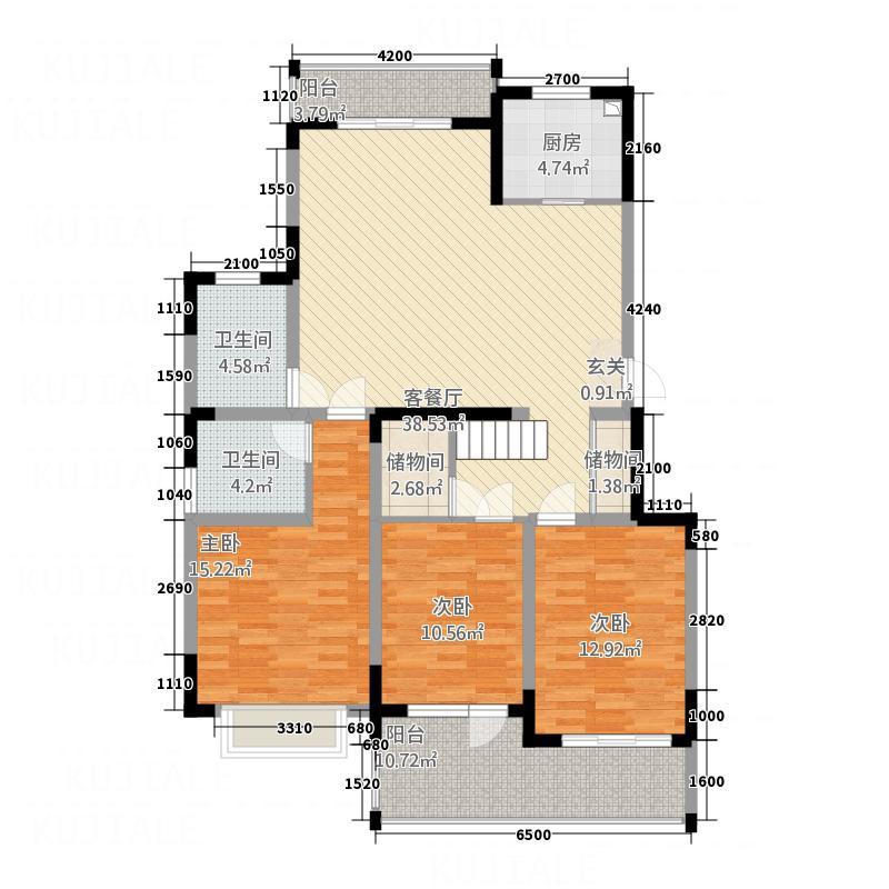 龙湖文馨苑户型3室