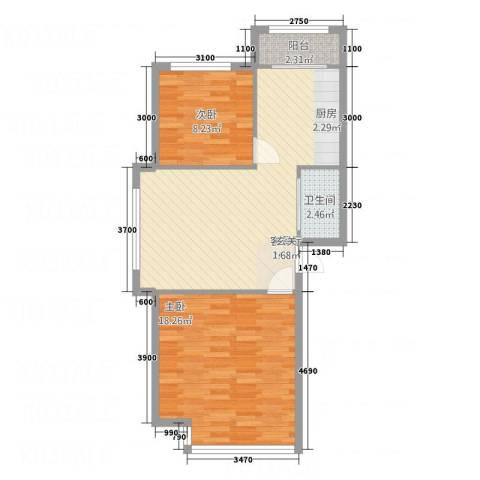 万科金域华庭别墅2室1厅1卫0厨78.00㎡户型图