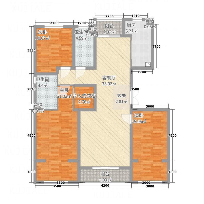 唐宁10号12#B户型3室2厅2卫1厨