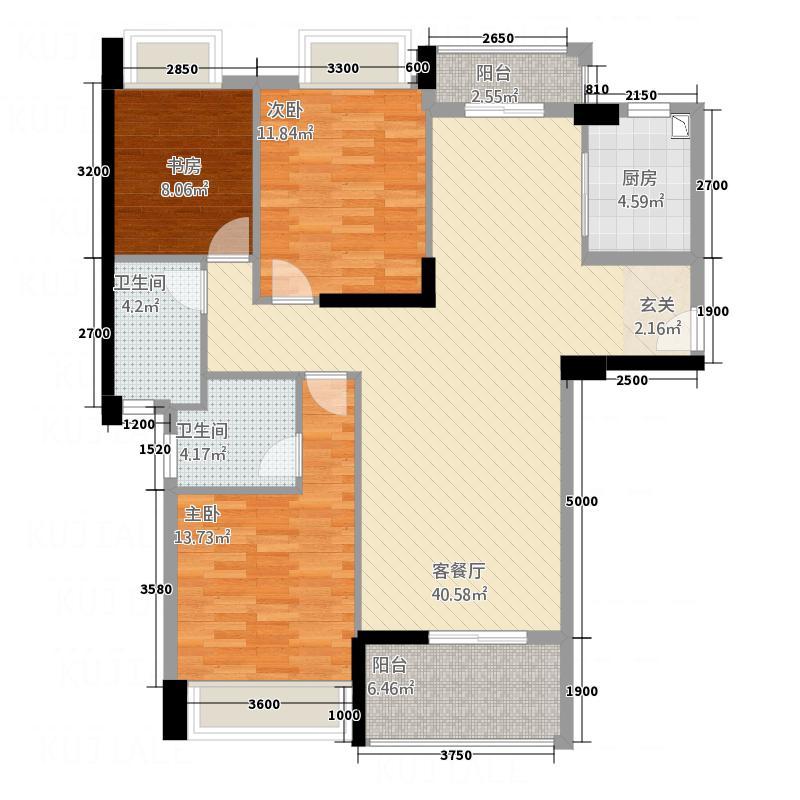 嘉和・迎宾城132.28㎡1#AD户型3室2厅2卫1厨