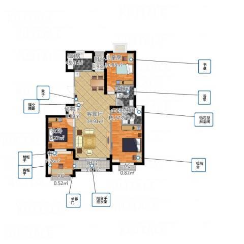 大学里三期4室1厅2卫1厨139.00㎡户型图
