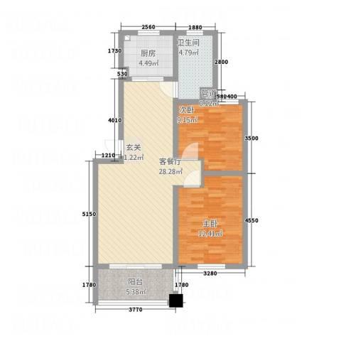 扬子家园2室1厅1卫1厨94.00㎡户型图