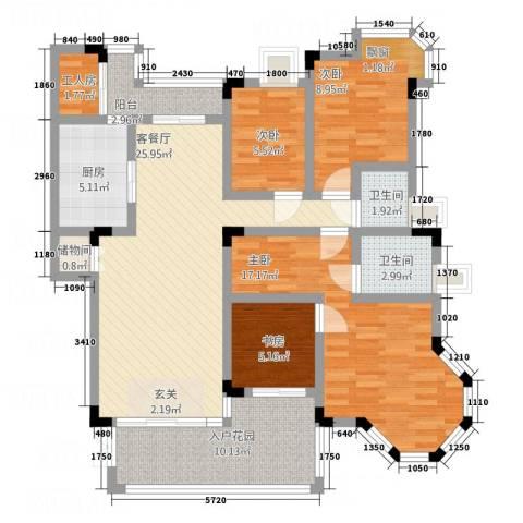 新康花园新雅苑4室1厅2卫1厨133.00㎡户型图