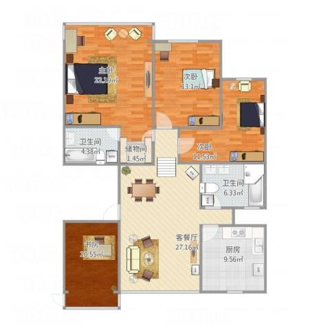 凤起都市花园4室1厅2卫1厨143.00㎡户型图