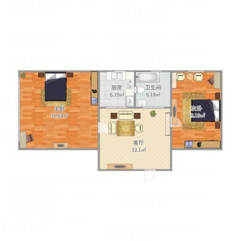 上水陆寺巷2室1厅1卫1厨111.00㎡户型图