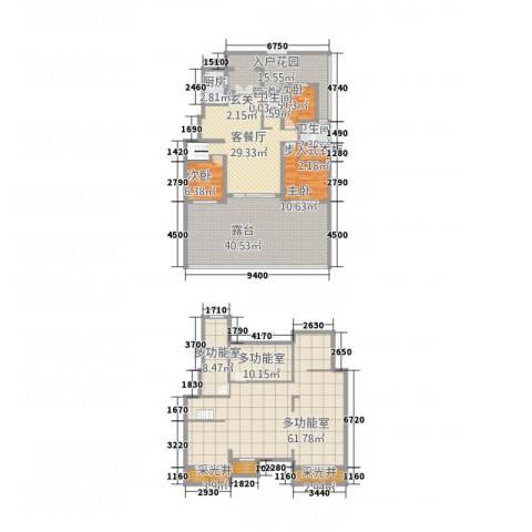 ��路二段六�3室1厅2卫1厨201.52㎡户型图