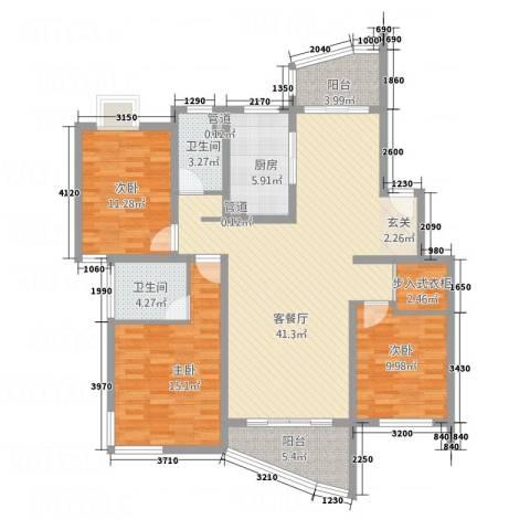 大华锦绣华城第19街区3室1厅2卫1厨149.00㎡户型图