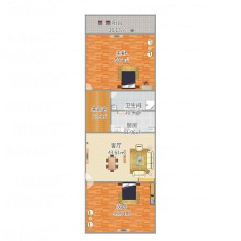 华彩楼2室1厅1卫1厨251.00㎡户型图