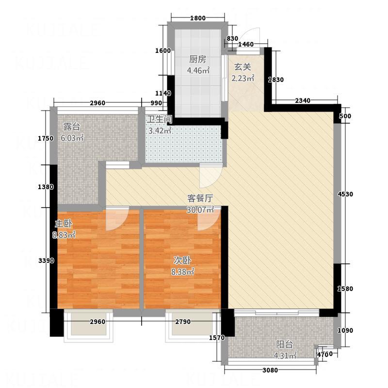 宝能城市广场二期住宅-插页2户型