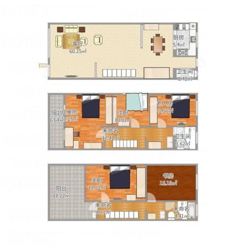 锦秋花园别墅5室1厅2卫1厨271.00㎡户型图