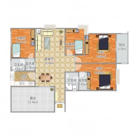 舜奥华府4室3厅2卫1厨163.00㎡户型图