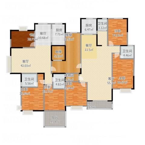 山语银城6室2厅4卫2厨359.00㎡户型图
