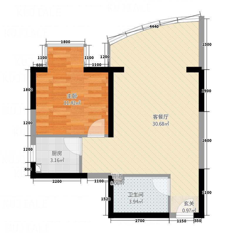 昆仑华庭13.00㎡二期1号楼1-9户型4室3厅3卫1厨