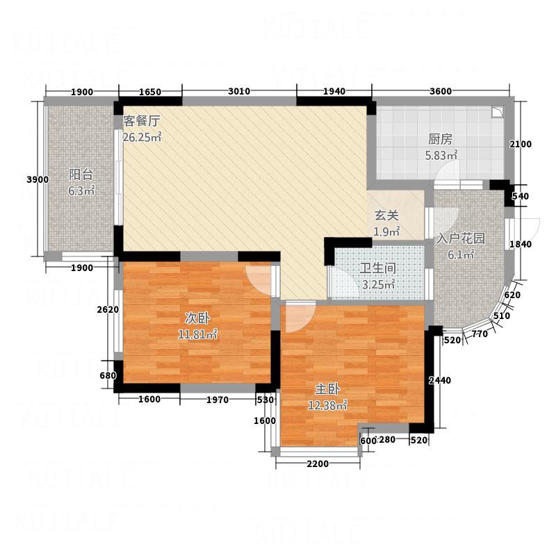 书香雅舍B3型C3型户型2室2厅