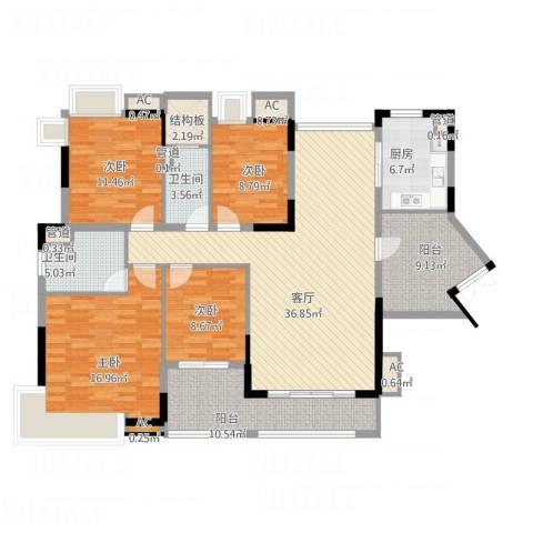 丽雅嘉园4室1厅2卫1厨175.00㎡户型图