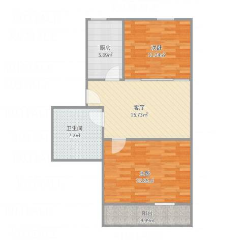贝港北区22室1厅1卫1厨82.00㎡户型图