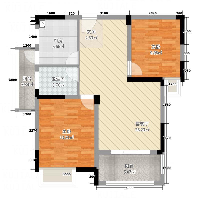 康乐园户型2室