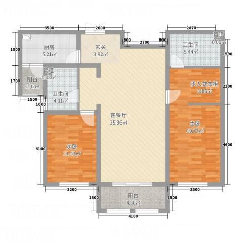 宏大观园2室1厅2卫1厨22116.00㎡户型图
