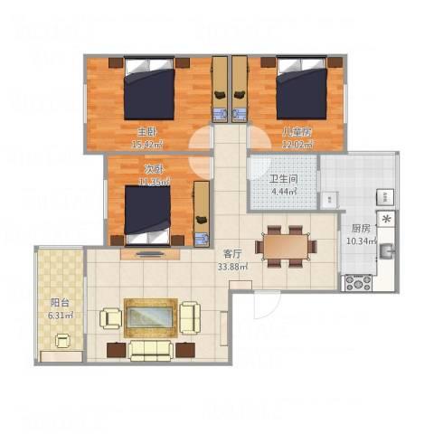 凤凰苑83-1-2023室1厅1卫1厨126.00㎡户型图