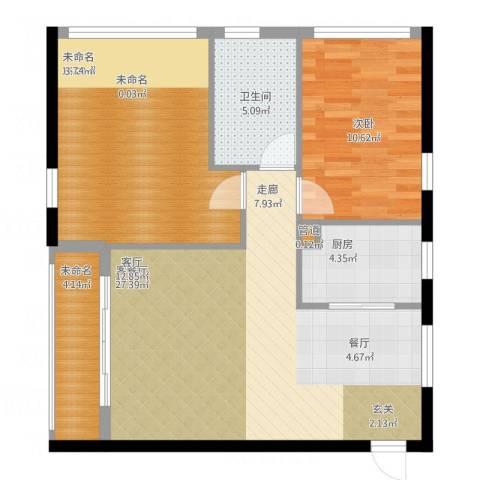 公园西郡大厦1室1厅2卫1厨95.00㎡户型图