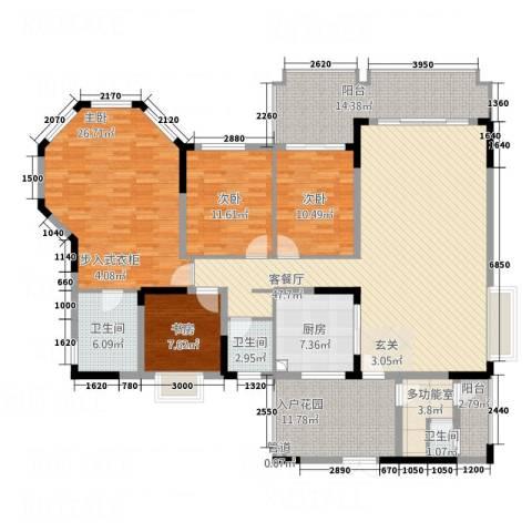 爱加西西里4室1厅3卫1厨154.63㎡户型图