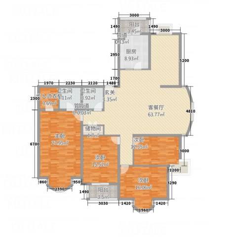 铂宫4室1厅2卫1厨231.00㎡户型图