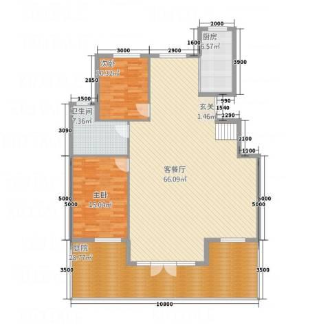 华烁・梧桐苑2室1厅1卫1厨134.14㎡户型图