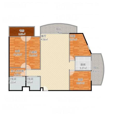 和通社区5室1厅2卫1厨174.00㎡户型图