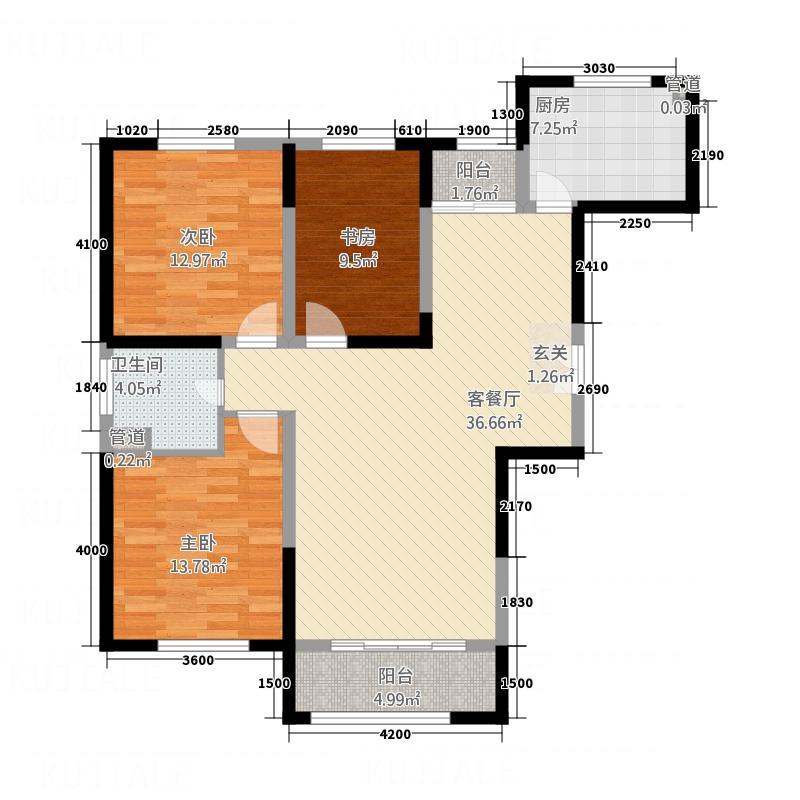 西山-九郡3126.20㎡户型3室2厅1卫