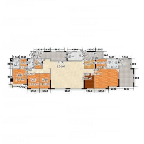 中天维港5室1厅4卫1厨323.00㎡户型图
