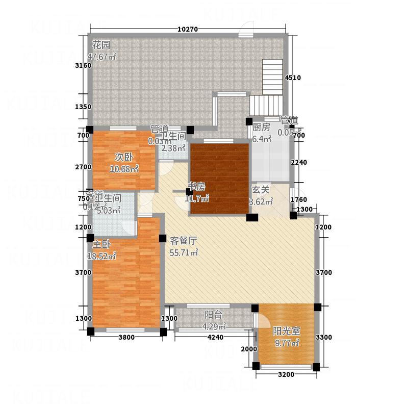 典逸心洲13.00㎡K一层户型4室1厅2卫