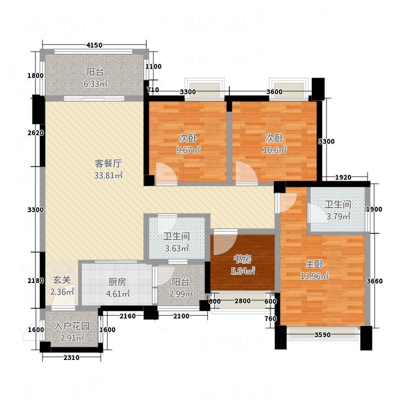 万兴・和睦人家13126.13㎡E户型3室2厅2卫