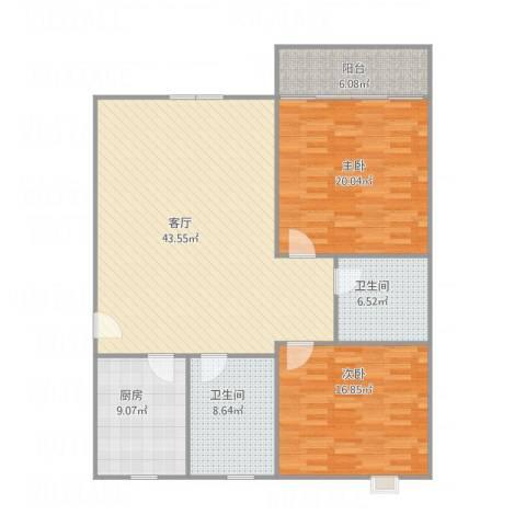 众旺苑22室1厅2卫1厨147.00㎡户型图
