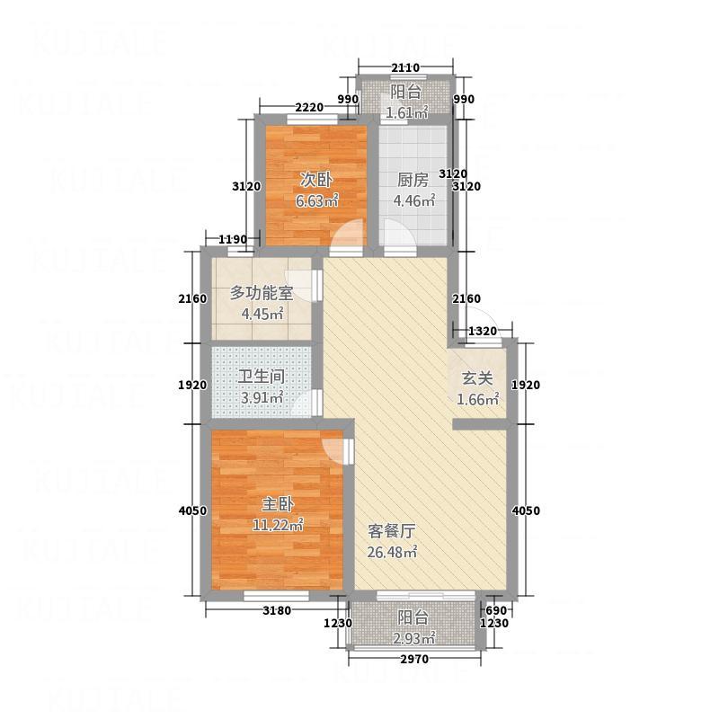 金水佳缘B户型3室2厅1卫