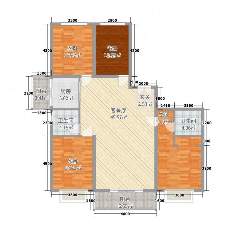 恒盛国际142217.75㎡A户型4室2厅2卫1厨