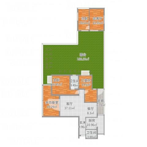 银城大厦3室1厅2卫1厨335.00㎡户型图