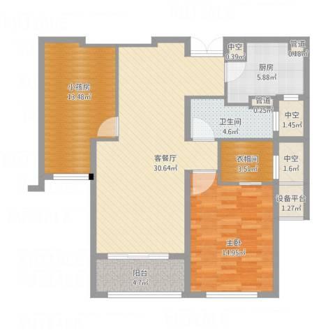 新地中心1室1厅1卫1厨119.00㎡户型图