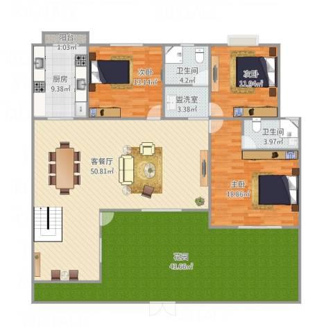 青枫墅园林语阁23-2-1013室2厅2卫1厨212.00㎡户型图