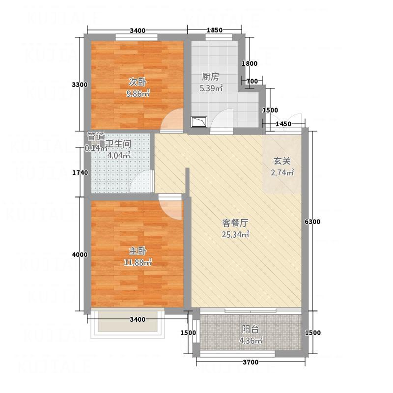 盛世・保尔HOUSE88.20㎡B1'户型