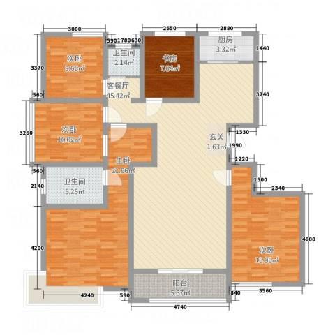 东方・亚特兰5室1厅2卫1厨126.01㎡户型图