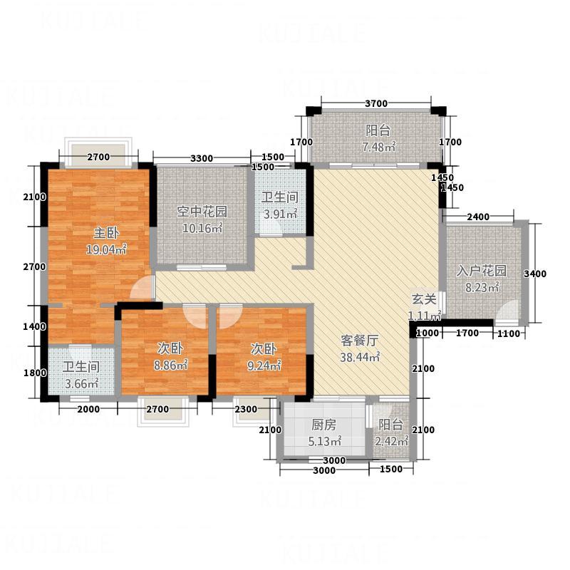 港龙湾・波托菲诺15143.20㎡15#2单元3+25室户型5室2厅2卫1厨