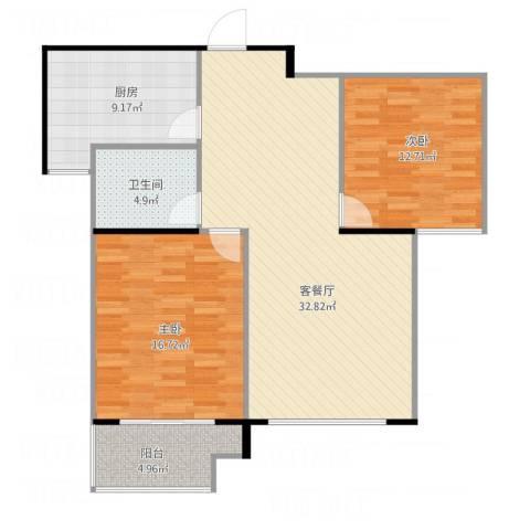平湖金色华庭892室1厅1卫1厨109.00㎡户型图