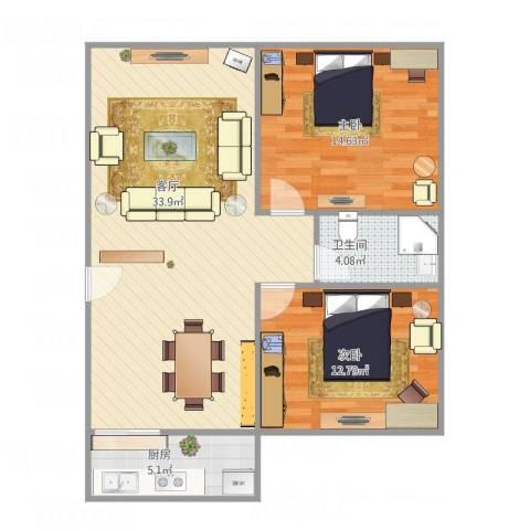 建设银行宿舍B12室1厅1卫1厨94.00㎡户型图