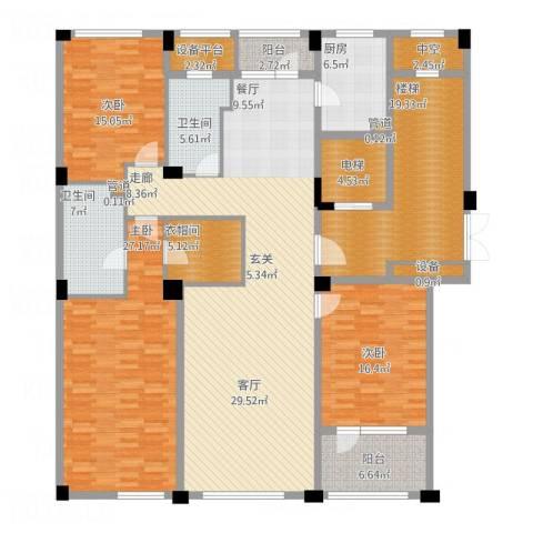 绿城慈溪玫瑰园3室1厅2卫1厨247.00㎡户型图