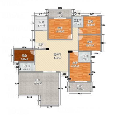 中亨尊品5室1厅3卫1厨226.00㎡户型图