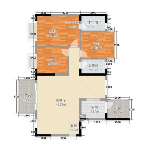 文泉西海岸3室1厅2卫1厨112.00㎡户型图