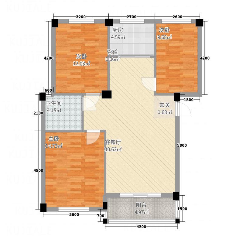 越通・三味舒屋12.40㎡89号楼户型3室2厅1卫1厨