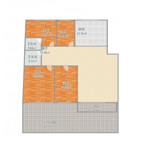 中华名城14室1厅2卫1厨343.00㎡户型图