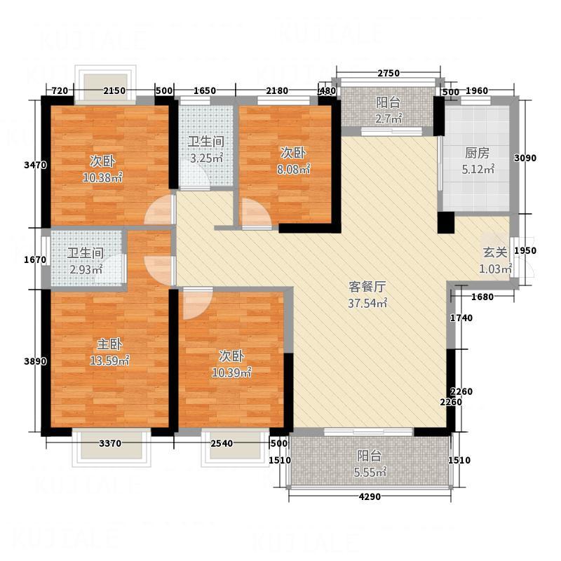 审计局家属楼13111.20㎡B户型3室2厅1卫1厨