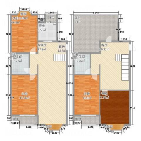 万汇广场4室2厅2卫1厨185.19㎡户型图